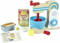 Melissa & Doug Wooden Make-a-Cake Mixer Set | Pretend Play | Multicolor