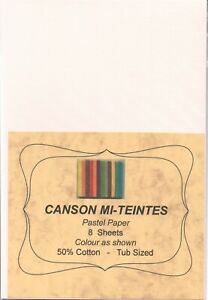 """A pack of 8 sheets """"CANSON MI-TEINTES PASTEL PAPER"""" Colour """" DAWN PINK  """" ."""