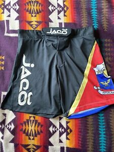 Men's JACO Republika Nang Pilipinas Philippines MMA Fighting Shorts Sz 30 Black