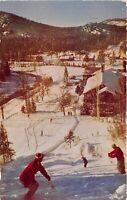 Ste Marguerite Quebec Canada 1960s Postcard Alpine Inn Skiing