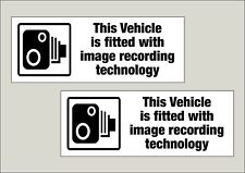 2x vehicle Image recording fitted window stickers 210 x 80mm Free 1st class P&P
