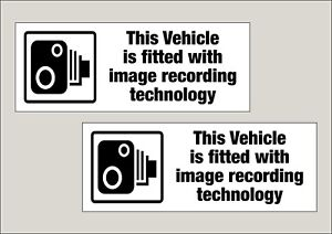 2x Double sided Vehicle Image recording fitted window stickers 210x80mm Free P&P