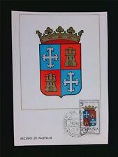 SPAIN MK 1965 ESCUDO PALENCIA WAPPEN BLAZON MAXIMUMKARTE MAXIMUM CARD MC c5969