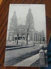 YPSILANTI MICHIGAN  Presbyterian Church  Rotograph German Postcard  Posted 1909