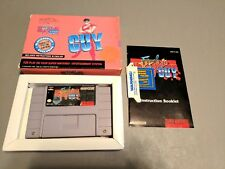 Final Fight Guy Super Nintendo SNES Complete in Box CIB CAPCOM Blockbuster Ex!