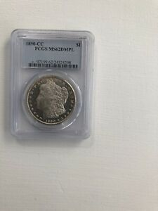 1890 CC Morgan Dollar Certified PCGS MS 62 DMPL No Reserve!