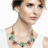 Stella & Dot Elodie Statement Necklace Coral Turqoise $90