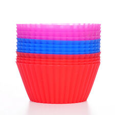 12pcs/set Silicone Cake Muffin Chocolate Cupcake Bakeware Baking Cup Mold Tool
