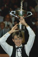 STEPHEN HENDRY HAND SIGNED 12X8 SNOOKER PHOTO PROOF.