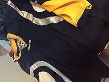 nashville predators colors Ice hockey blank Reebok jersey  adult XL