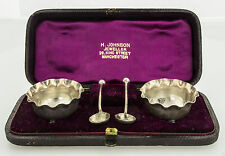 Antique Sterling Silver Cruet Set By A.H. Tongue in Birmingham 1888