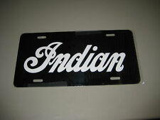 INDIAN License plate/ BLACK Aluminum with White letters