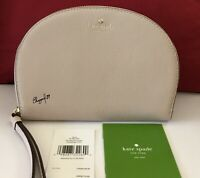 NWT Kate Spade NY Shara Larchmont Ave Pebble Leather Phone Wristlet Warm Beige