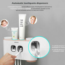 Handfree Toothbrush 5 Holder 4 Cups Holder Automatic Toothpaste Dispenser  ~
