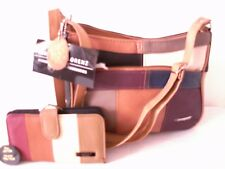 LADIES NEW  POPULAR TOP QUALITY MULTI REAL LEATHER SET GIFT SHOULDER BAG+PURSE