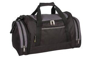 Mens & Boys Black Sports & Gym Holdall Bag SPORTS TRAVEL WORK SCHOOL DUFFLE BAGS