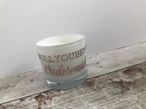 bridesmaid proposal gifts, Personalised Candle, Hen Party Favour, Wedding Favour