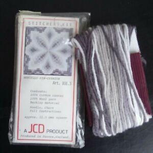 Vintage JCD Bargello pin cushion tapestry kit in grey