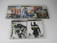 Playstation 3 PS3 Game Lot of 5 Bioshock Battlefield 3 & 4 Splinter Cell Read