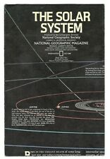 THE SOLAR SYSTEM 1981 VINTAGE NATIONAL GEOGRAPHIC MAP Wall Poster M1