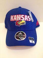 6acaa7aa0b4 Kansas Jayhawks Adidas 2014 Travel Flex Stretch fit hat L XL Blue