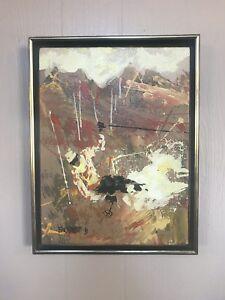 Magnus Engstrom Skier Painting
