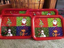 Set of 12 Christmas Tin Metal Trays