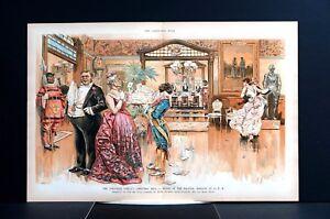 Grand Christmas Ball REGRETS 1889 DINNER RICH ELITE NO SHOWS BLACK SERVANT Puck