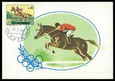 SAN MARINO MK 1966 REITEN REITSPORT PFERD PFERDE HORSE MAXIMUM CARD MC CM am33