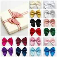 10cm Large Satin Bows - Self Adhesive Pre Tied 38mm Ribbon Bow Wedding Craft