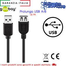 CAVO PROLUNGA USB 2.0 ALTA VELOCITA' MASCHIO-FEMMINA  1,8 MT CABLE-143HS