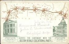 Lewis & Clark Expo Portland OR MAP Massachusetts State Bldg 1905 Postcard