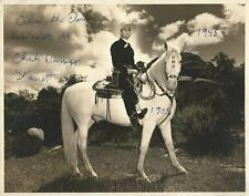 "Charles Starrett 1903–1986 (Blazing the Western Trail) Autographed 11x14"" Photo"