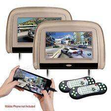 """COPPIA MONITOR POGGIATESTA 9"""" TOUCH 1080p USB,SD,HDMI VIDEO GIOCHI DVD RADIO FM"""