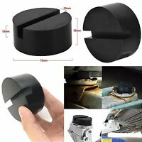 2pcs Car Slotted Frame Rail Floor Jack Guard Adapter Lift Rubber Pad Pinch Weld