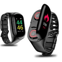 Smartwatch M1 Herzfrequenz Puls Uhr Bluetooth TWS Kopfhörer Fitness Sporttracker