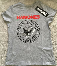 Ladies Primark Ramones Short Sleeved T-shirt Size 4-6