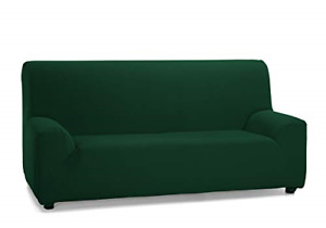 Martina Home - Elastic cover for 3-seater sofa, model TUNEZ, Color GREEN BOTTLE,