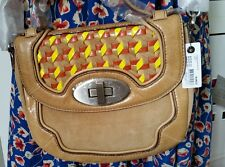 💕💕💕RRP $379.00 MIMCO CAMEL MUGHAL MINI SATCHEL LEATHER CROSS BODY BAG CLUTCH