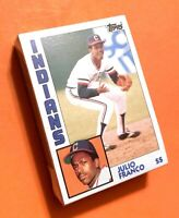 50) JULIO FRANCO Cleveland Indians 1984 Toops Baseball Card #48 LOT