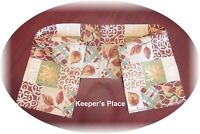 "Fall Autumn Leaves Tapestry Table Runner With Gold Threads 13.5"" x 66"""