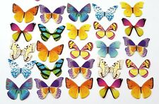 25 BUTTERFLY CARD TOPPERS-CARD TOPPER/EMBELLISHMENT-CRAFT BUTTERFLIES-CUP CAKE