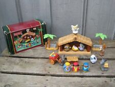 Fisher Price Little People Deluxe Christmas Story Nativity Musical 2002 W/Box