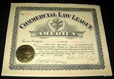 COMMERCIAL LAW LEAGUE OF AMERICA 1931 CERTIFICATE * ROBERT H SYKES NORTH DAKOTA