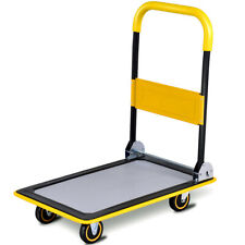 Costway 330lbs Folding Platform Cart Dolly Push Hand Truck Moving Warehouse