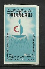 Yemen Croix Rouge Red Cross Rotes Kreuz Croce Rossa Non Dentele Imperf ** 1963