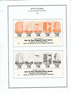 1975 Juan De Fuca Despatch Courier Service Labels