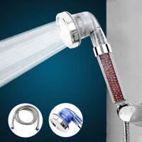 High Pressure Shower Head Bathroom Water Saving 3 Filter Ionic Filtration Heads