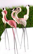 Garden 5 Pcs Flamingo Birds Miniature Animal  Pick Decorate Mini Fairy  New