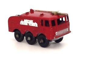 LESNEY MATCHBOX NO. 63 ALVIS FOAMITE CRASH TENDER FIRE ENGINE  - NR. MINT